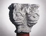 Anonyme toulousain - Chapiteau de colonne simple , Têtes monstrueuses - Musée des Augustins - ME 216 (3).jpg