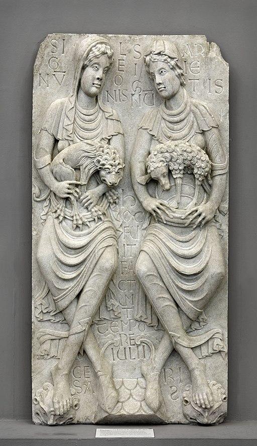 Anonyme toulousain - Haut-relief , Le Signe du Lion et le Signe du Bélier - Musée des Augustins - ME 206