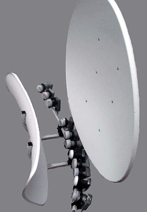 Satellite television in the United States - 90cm multiple-LNA toroidal satellite dish