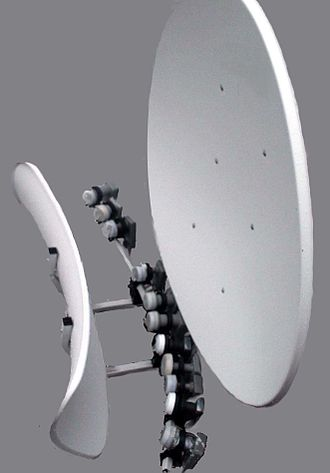 Satellite dish - Special dish for up to 16 satellite positions (Ku-band).