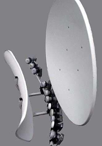 Satellite television in the United States - 90cm multiple-LNA toroidal satellite dish