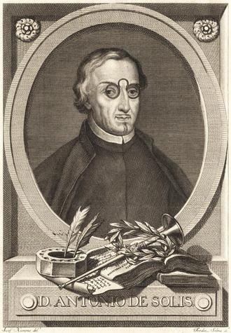 Antonio de Solís y Ribadeneyra - Engraving of Antonio de Solís y Ribadeneyra in the book Historia de la conquista de México (Madrid: 1783).