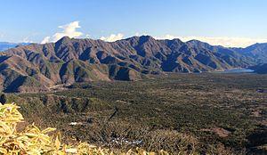 Aokigahara - Aokigahara, Misaka Mountains and Saiko Lake seen from Mount Ryu of Tenshi Mountains