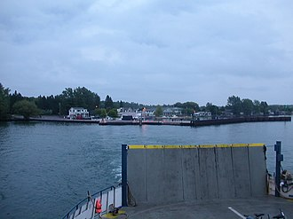 Madeline Island - Approaching Madeline Island by ferry