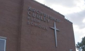 Archbishop Curley High School - Image: Archbishop curley hs baltimore cross and sign