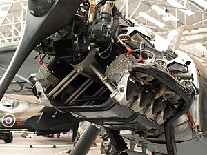 Argus As 10 - Argus As 10 installed in a Fieseler Storch at the Royal Air Force Museum Cosford