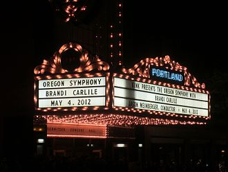 Brandi Carlile - Brandi Carlile and the Oregon Symphony at the Arlene Schnitzer Concert Hall in Portland, Oregon in 2012