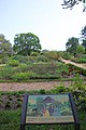 Arlington House - looking south at Flower Garden with sign - 2011.jpg