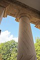 Arlington House - looking up at porch pillar and capitals - 2011.jpg