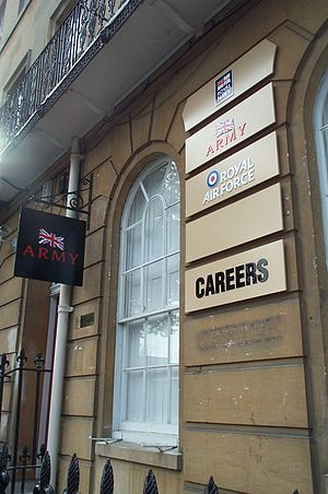 Military recruitment - Image: Army Careers Oxford 20051022
