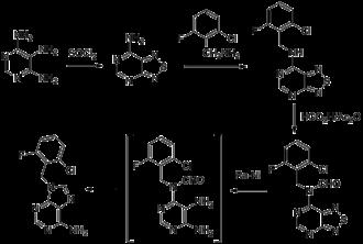 Arprinocid - Image: Arprinocid synthesis