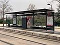 Arrêt du tramway Toison d'Or à Dijon (février 2021).jpg