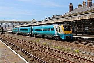 Rhyl railway station - An Arriva Trains Wales Class 175 at platform 1
