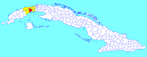 Municipalities of Cuba - Image: Artemisa (Cuban municipal map)