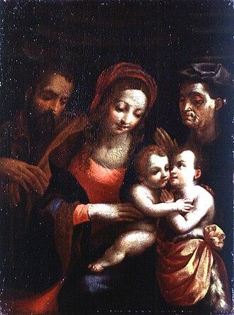 Francesco Vanni - Image: Artgate Fondazione Cariplo Vanni Francesco, Sacra Famiglia con Santa Elisabetta e San Giovannino