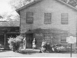 Robert Ingersoll Birthplace - Image: Arthur and Ruth Cromwell at Ingersoll house, 1950s