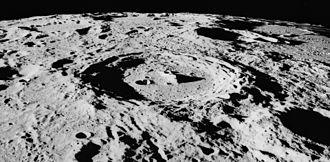 Arzachel (crater) - Oblique view from Apollo 16, facing south