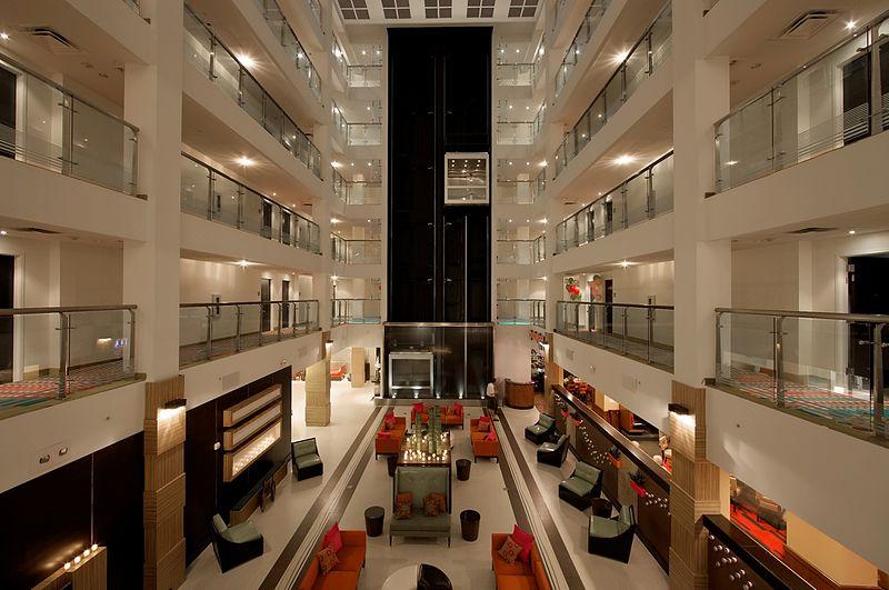 Atrium interior Holiday Inn Sarasota Airport.jpg