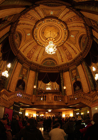 The State Theatre on Market Street was opened in 1929. Atrium of State Theatre IMG 4687a.jpg