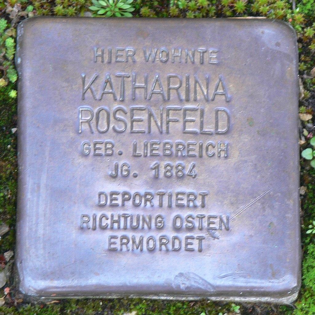 Aub - Stolperstein Rosenfeld, Katharina.jpg