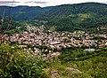 Ausblick vom Burgstein, 744 m. ü. NN - Schwäbische-Alb-Nordrand-Weg (Hauptwanderweg 1, HW 1), Albsteig, Blick auf Lichtenstein - panoramio.jpg