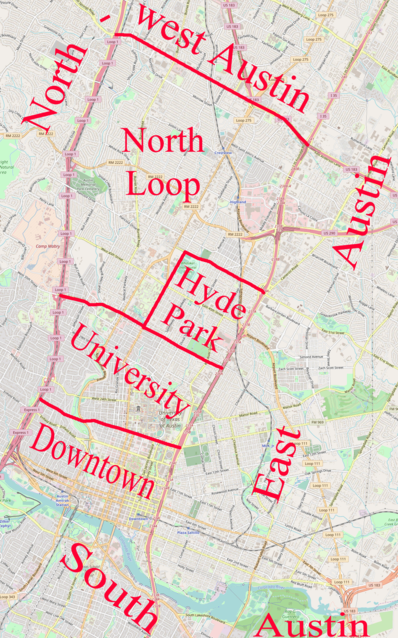 Austin district map