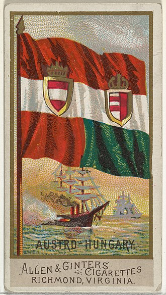 Allen & Ginter - Image: Austro Hungary, from Flags of All Nations, Series 2 (N10) for Allen & Ginter Cigarettes Brands MET DP841360