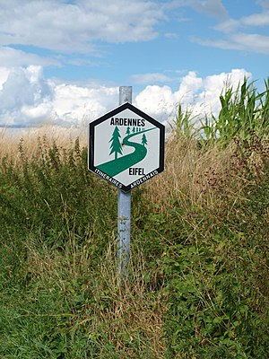 Eifel-Ardennes Green Route - Green Route sign