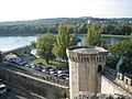 Avignon - Rhône vue remparts.JPG