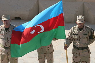 Flag of Azerbaijan - Image: Azerbaijani soldiers in Iraq 30