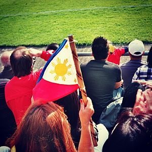 Philippines national football team - Fans of the national team during a friendly against SV Darmstadt 98 in Germany.   June 24, 2011