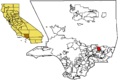 Azusa in LA County map.png