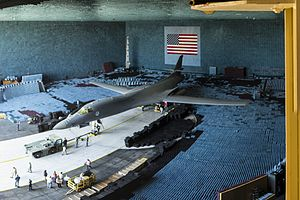 Benefield Anechoic Facility - B-1B in the BAF, 2016.