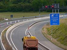 Bundesautobahn 44 nahe der Anschlussstelle Hessisch Lichtenau-Mitte