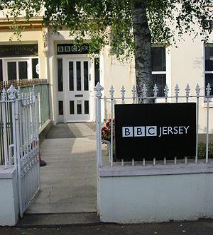 BBC Radio Jersey - Entrance to BBC Radio Jersey in Parade Road, Saint Helier
