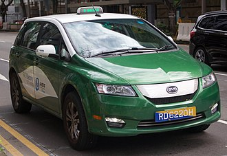 Taxicabs of Singapore - BYD e6 electric taxicab