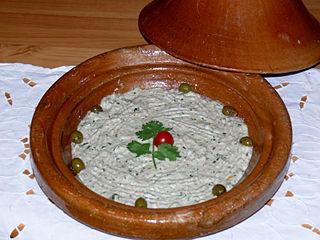 Baba ghanoush Levantine dish of cooked eggplant