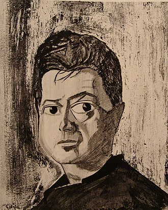 Reginald Gray (artist) - Portrait from life of Francis Bacon by Reginald Gray (National Portrait Gallery, London)