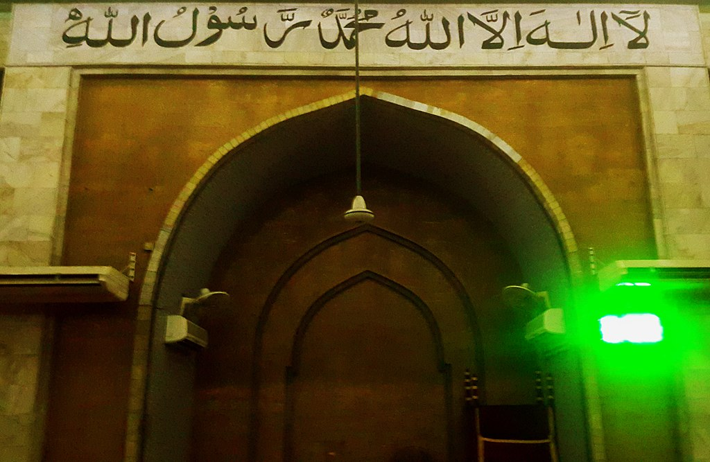 پرونده:Baitul Mukarram National Mosque Interior (mehrab & mimbar).jpg - ویکیپدیا، دانشنامهٔ آزاد