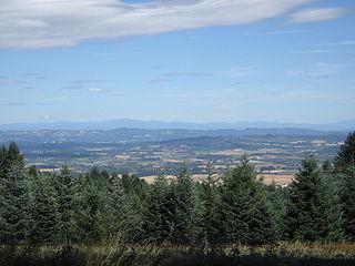 Tualatin Valley a farming and suburban region southwest of Portland, Oregon