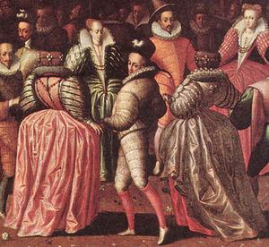 Farthingale - French farthingales, c. 1580