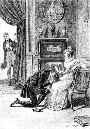 Illusions perdues - Title page of Honoré de Balzac's Lost Illusions, Mme de Bargeton's Boudoir (1837).