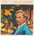 Bandontwerp voor Claude Francolin, Paul Gauguin. Het leven van een groot schilder, c. 1958, RP-T-2015-41-3540.jpg