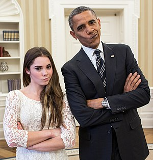Barack Obama with artistic gymnastic McKayla Maroney 2.jpg