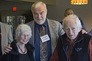 J. Michael Lennon - Barbara Wasserman, Mike Lennon, and Norman Mailer in 2006