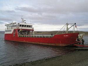 Transbordadora Austral Broom S.A. - The Transbordadora Austral Broom S.A. owned Melinka ferry at Porvenir port
