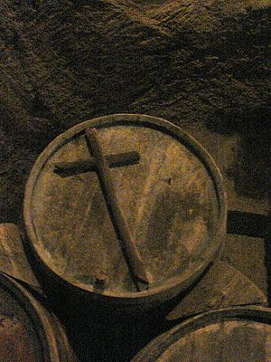 Vin Santo - Barrels used for the ageing of Vin Santo are often marked with the Christian cross.