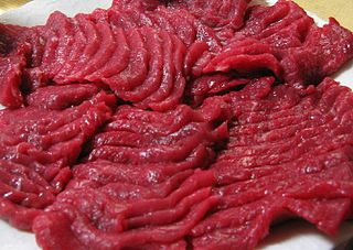 meat cut from a horse