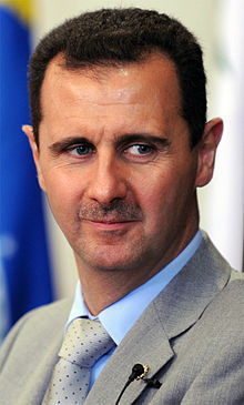 Wikipedia: Bashar Hafez al-Assad at Wikipedia: 220px-Bashar_al-Assad_%28cropped%29