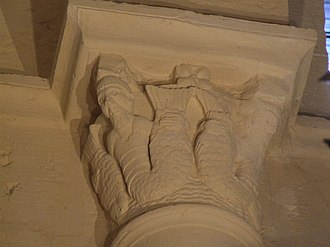 Basilica of Paray-le-Monial - Detail of a capital with sirens.